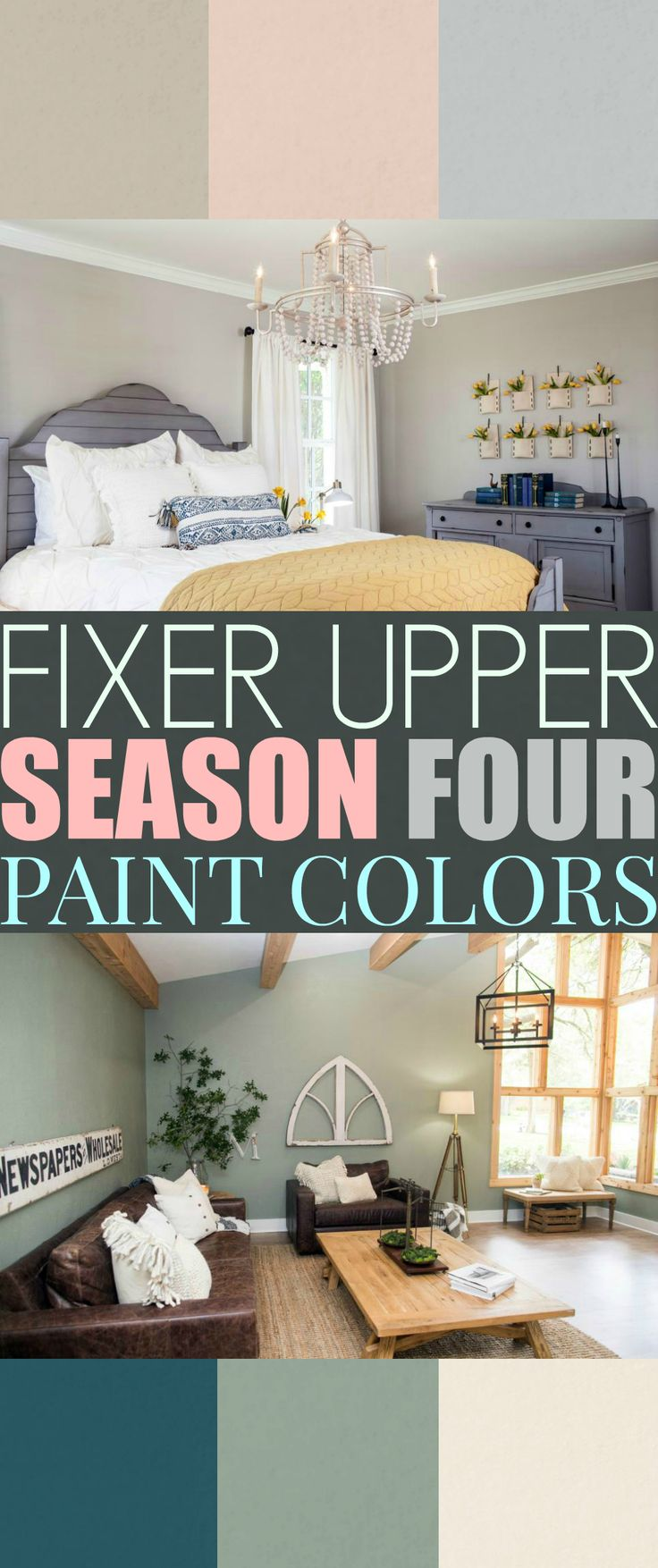 Fixer Upper Season 4 Paint Colors. Season 4 of Fixer Upper is out! And Joanna is using every opportunity to showcase her new paint line!