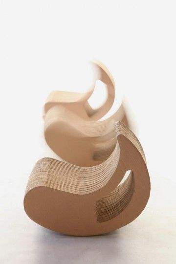 Eco-Seat-Play for Kids. Made of durable recycled cardboard, designed by Dominika Błazek for LaboratoryArt.