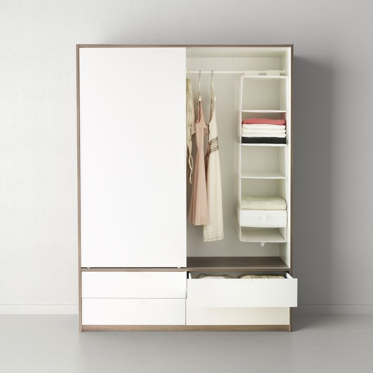 TRYSIL garderobekast | WIN! Stel jouw favoriete slaap- en badkamer samen. Het mooiste bord laten we tot leven komen in IKEA Amsterdam. De winnaar wint ook een IKEA cadeaupas t.w.v. 2.500.-! #IKEAcatalogus