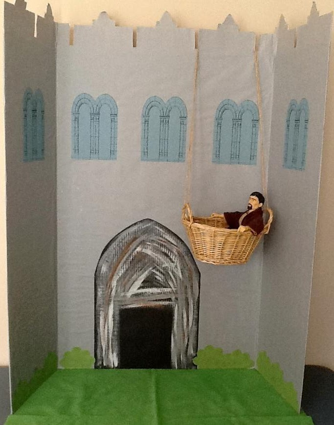 Paul Escapes Damascus in a Basket Visual Aid