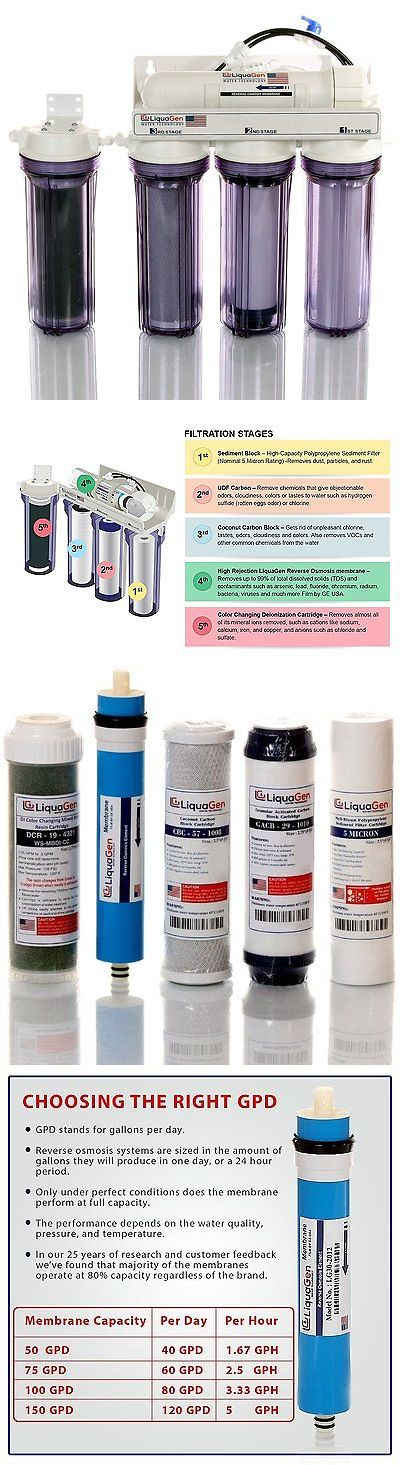 Reverse Osmosis and Deionization 77658: 5 Stage Aquarium Reef - Reverse Osmosis Water Filter System Ro/Di | 75 Gpd BUY IT NOW ONLY: $205.41