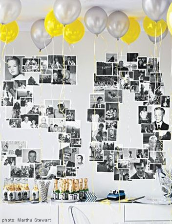 Over the Hill BIrthday party or change it for any year. What a cute idea.