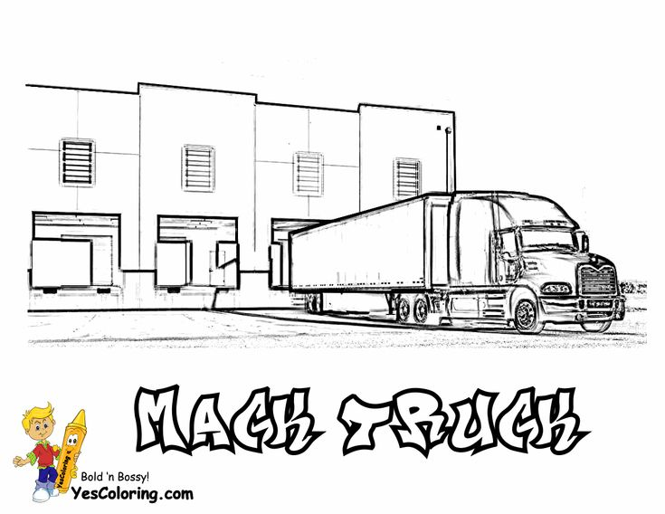 mack truck coloring sheet at yescoloring