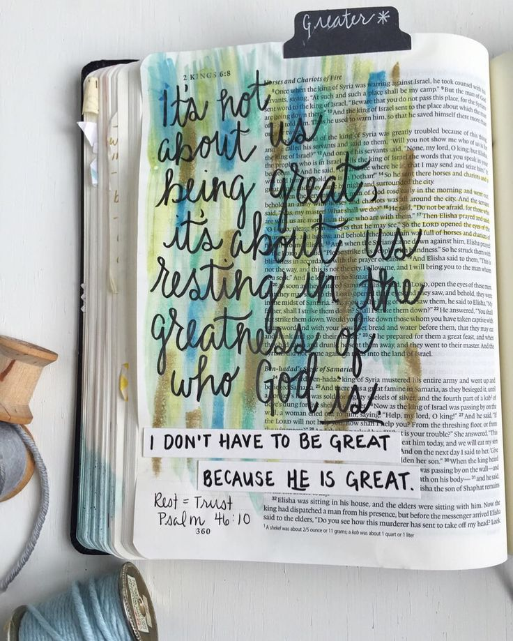 Catching up on my #biblejournaling and diving into my notes from @lpc_cartersville series #GREATERlpc . I don't have to be great because HE is GREAT. 2 Kings 6:14-17 #biblejournalingcommunity #illustratedfaith #shepaintstruth by thesilverspool
