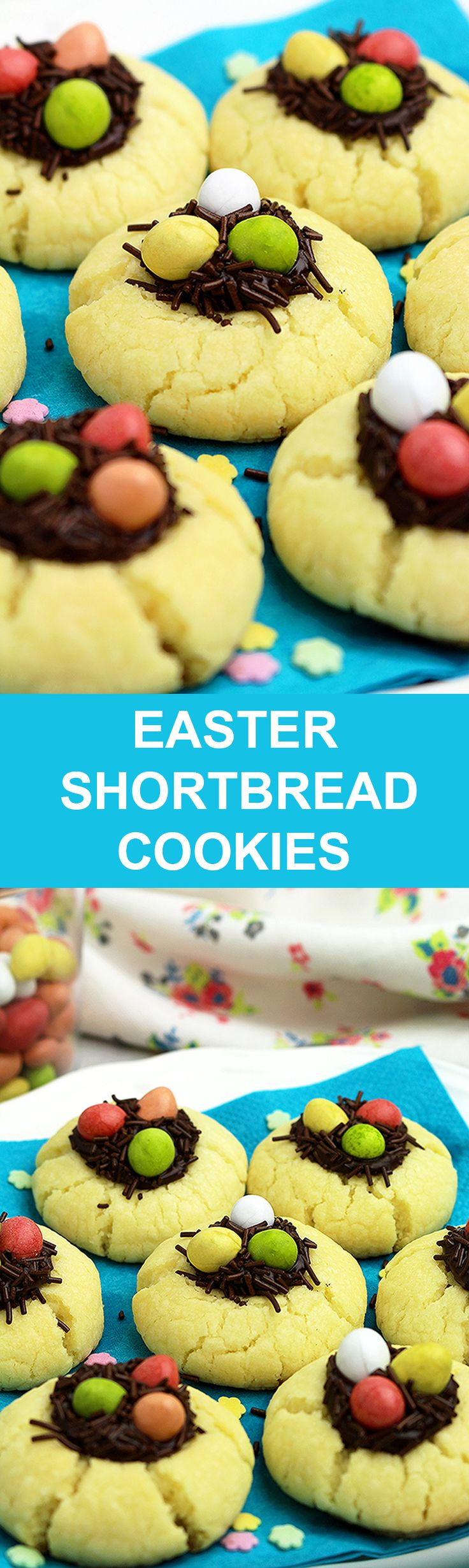 Easter Shortbread Cookies perfect Easter cookies that simply melt in your mouth. Decorated especially for Easter, they wilk make this holiday more festive ♦