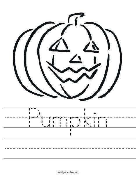 Pumpkin Worksheet - Twisty Noodle | Halloween worksheets ...