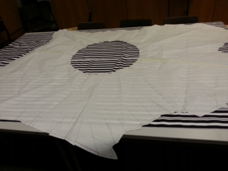cut out the pattern for sleeve out of chosen fabric.