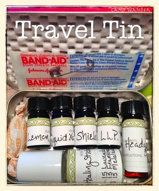 Camp Wander: The NEW Camp Wander Travel Tin! [lemon, Liquid Xanax, Shield, LLP, Headache Buster & Healing Stick]