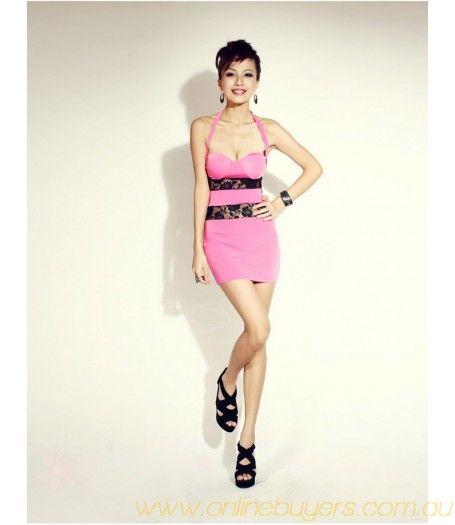 Slimming Open Back Imitated Silk Women's Bodycon Dress