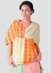 TRE Batik  TRE Batik Blouse Ballon Kuning Orange