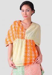 TRE Batik  TRE Batik Blouse Ballon Kuning Orange