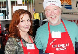 """Melissa Gilbert and Timothy Busfield Engaged - I had no idea they were dating - Congrats! Funny, she sure loves the initial """"B"""" for her last name, all 3 of her hubbies have last names beginning with """"B""""!! Brinkman, Boxleitner and now Busfield!"""