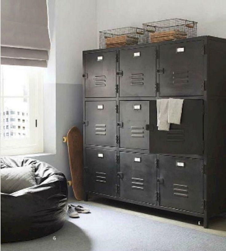 17 Stunning Diy Bedroom Storage Ideas Storage Kids Room Locker Storage Metal Lockers
