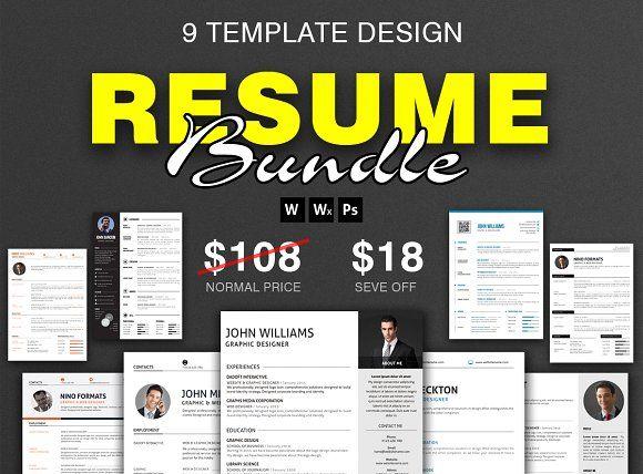 Top Selling Resume/CV Big Bundle by resumetemplates on @creativemarket