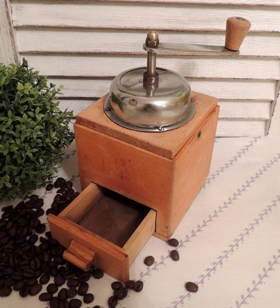 Vintage Coffee Grinder Mill Home Kitchen Vintage Retro Old