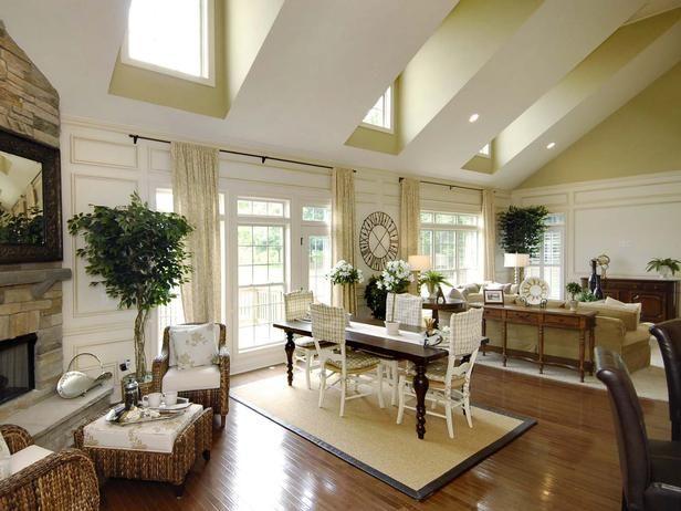 Coastal-Inspired Living Room  from HGTVRemodels.com