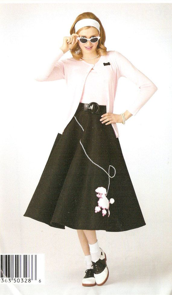 Simplicity S0328 Misses' Rockabilly Poodle by DRCRosePatterns
