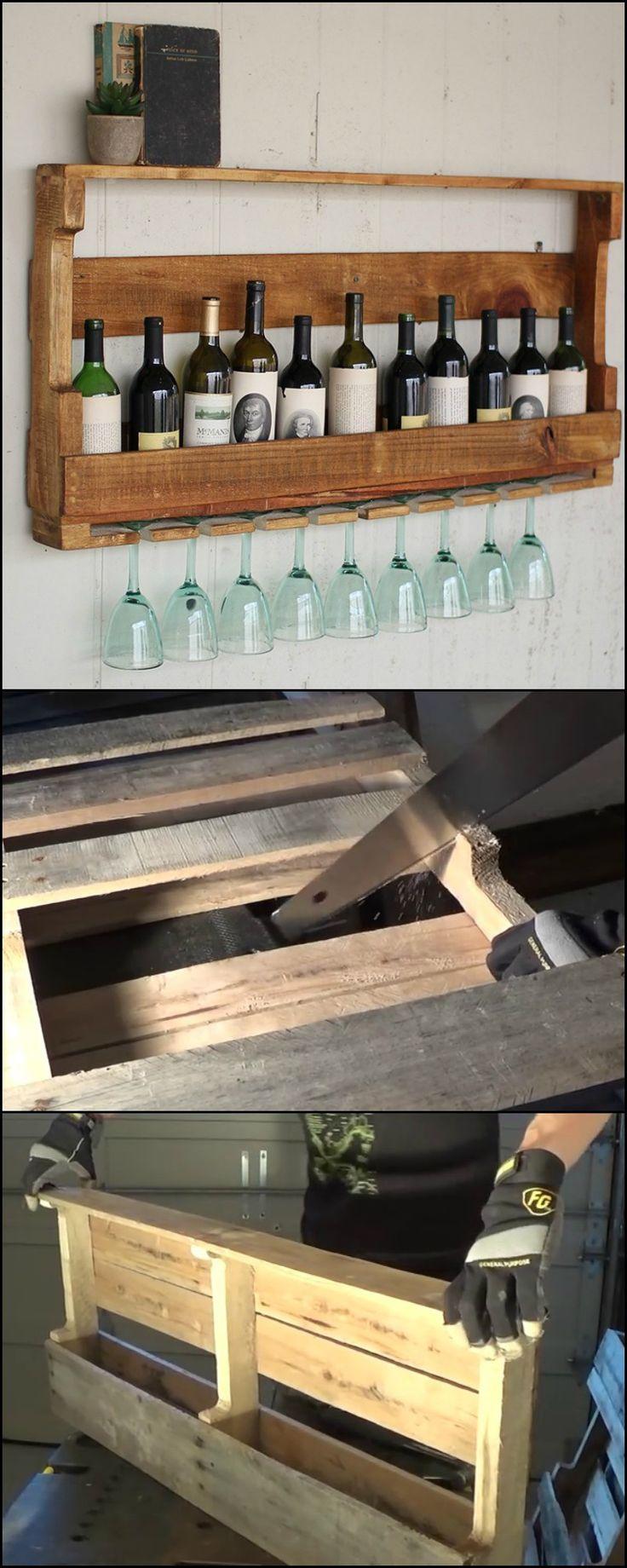 Diy Wooden Pallet Wine Rack Best Wood 2017