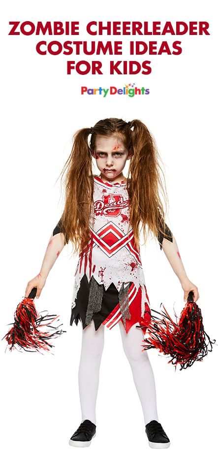 Read our zombie cheerleader costume ideas to find out how to put together this easy Halloween costume for kids.