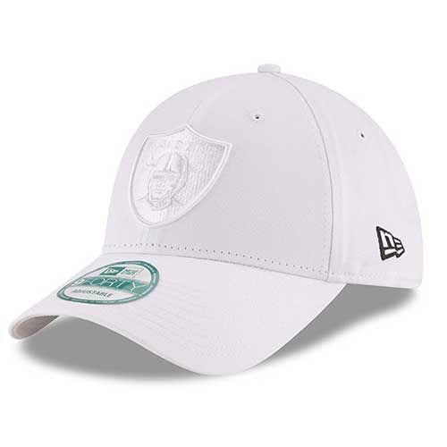 Oakland Raiders New Era 9Forty White on White Logo Cap
