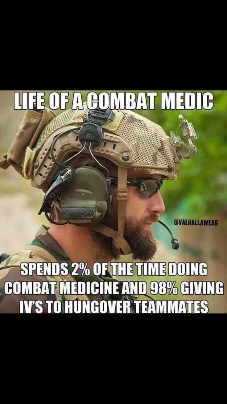 Probably my future. I'd like to be pararescue, so I'll be trained in eme…