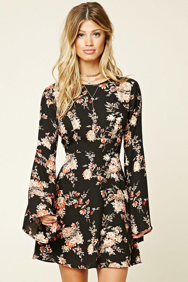 Vestido Acampanado Flores
