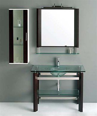 Website With Photo Gallery Glass Bathroom Vanity VG by JJT Trading