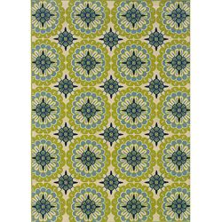 Love this, but not sure if I can commit.  Catalina Green and Ivory Outdoor Area Rug (7'10 x 10').  $200