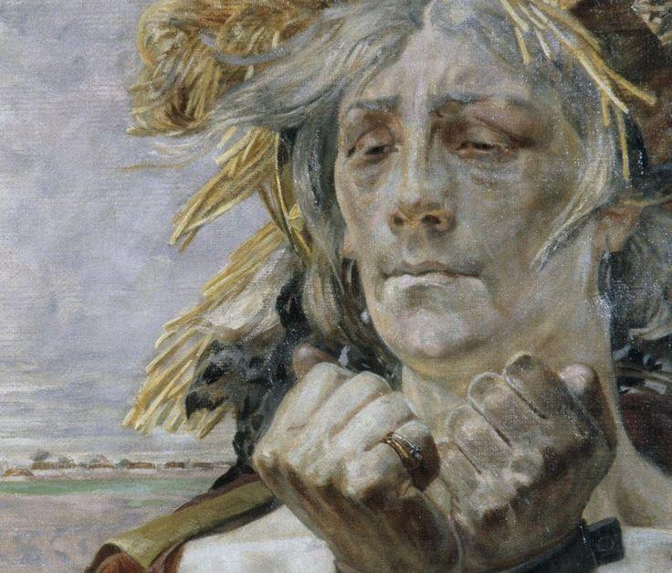 Jacek Malczewski - A Polish Hamlet: Portrait of Eleksander Wielopolski (Detail) [1903]