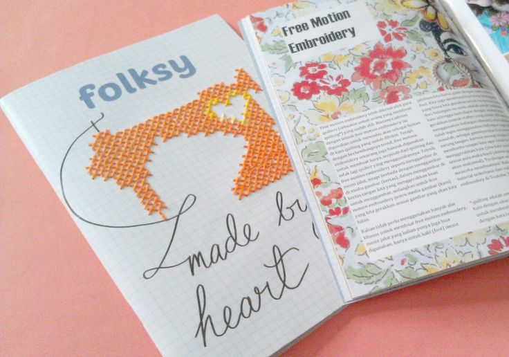 folksy 5th edition, issue: embroidery, August-September 2015. Cover embroidered by Lois Nur Fathiarini