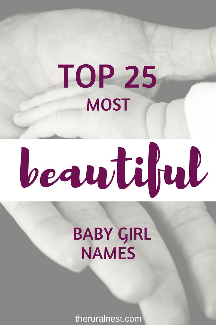 Top 25 most beautiful baby girl names