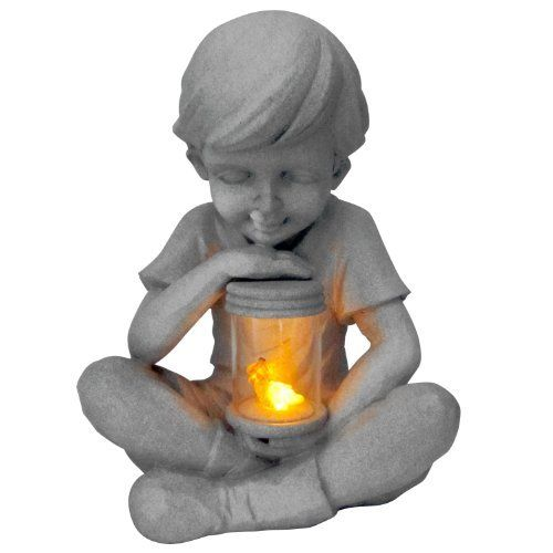 Solar LED Sitting Boy Sculpture By Homedesign. $31.68. Save 37%!