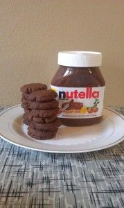 """Nutella Cookies Recipe  just mix 1 cup Nutella with 1 cup flour and 1 egg. Roll the Nutella dough into 1"""" balls, place on a cookie sheet, and flatten. Bake for 8 min."""