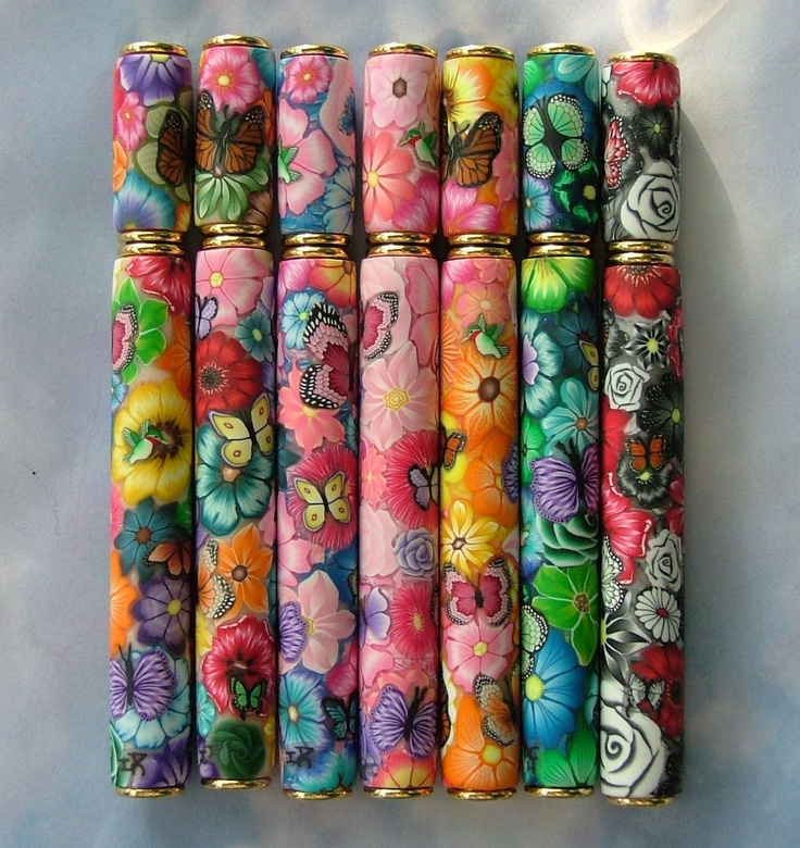Polymer Clay Pens by ?