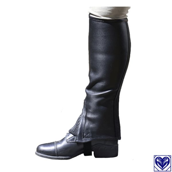 Half Chaps (Leather) - Fuller Fillies Huggy Half Chaps in Soft Sheep Leather - From Horses are Expensive (Canada's plus size equestrian specialists)