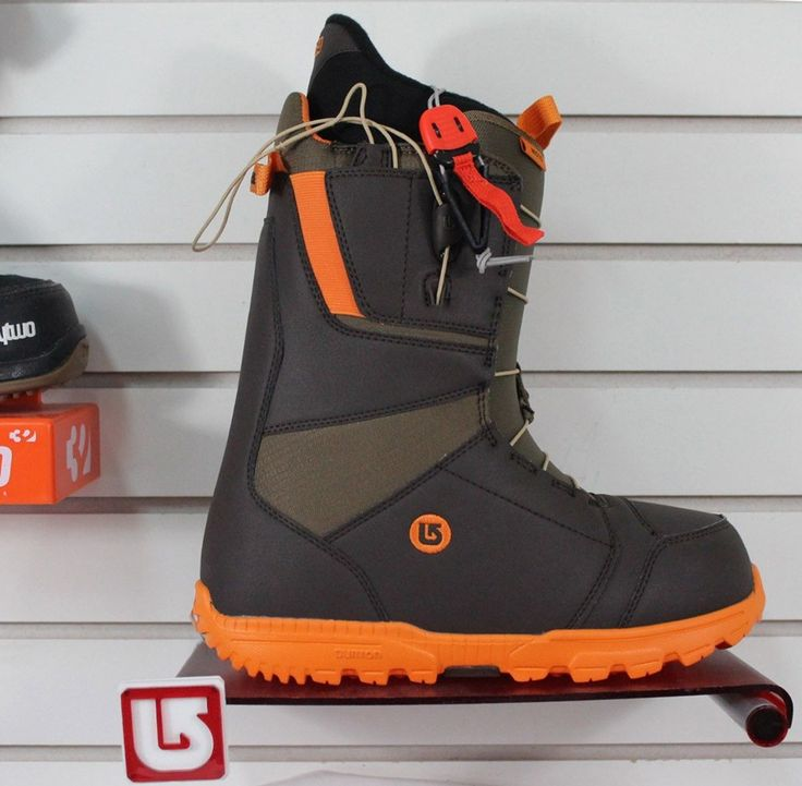 Boots 36292: New 2016 Burton Moto Snowboard Boots Mens Size 10 Brown Orange -> BUY IT NOW ONLY: $125.97 on eBay!