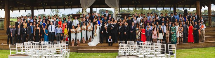 A panorama of all the guests. Venue: Sydney Polo Club. Photographer: Darwin Gomez Photography
