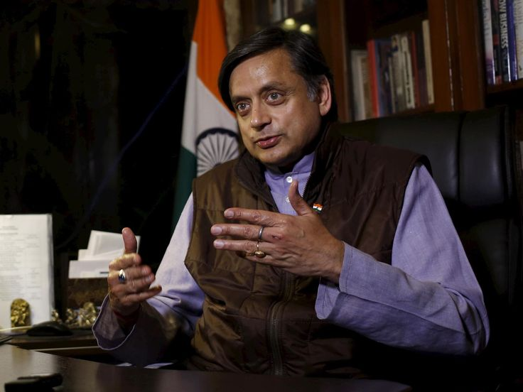 """Britons suffer """"historical amnesia""""overthe atrocities and plunder committed by their empire, Indian MP and author Shashi Tharoor has said."""