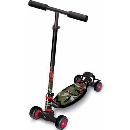 Fuzion Sport 4‑Wheel Carving Scooter, Camo OUR PRICE - $ 16.99 RETAIL - $ 34.99 Ocala, FL (34470)  Featuring the classic Fuzion 4-wheel scooter style with Fuzion Steering Technology, the Sport makes for the ultimate fun carving experience. Its compact and lightweight frame can be ridden anywhere, from hill-rides to wide sweeping turns on flat ground or just for getting around the neighborhood. The Fuzion Sport features our signature Fuzion's unique dual pivot steering techn