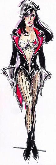 Cher costume sketch for Burlesque by Bob Mackie