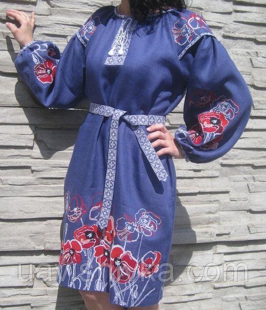"""Сукня жіноча""""Маки""""  ВИШИТА УКРАЇНА"""