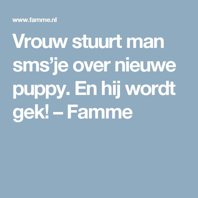 Vrouw stuurt man sms'je over nieuwe puppy. En hij wordt gek! – Famme