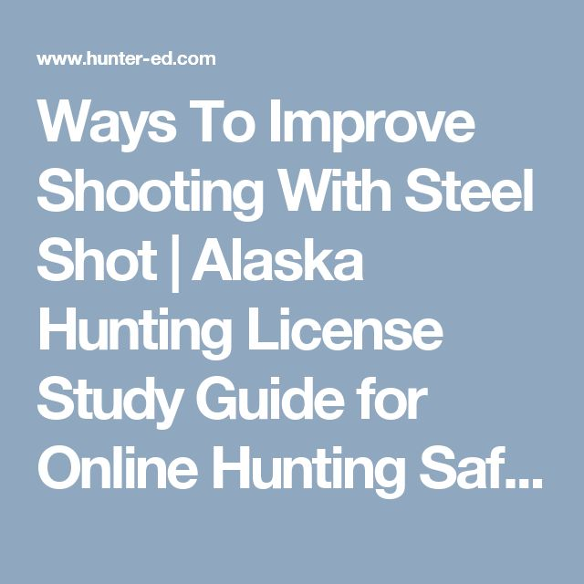 Ways To Improve Shooting With Steel Shot | Alaska Hunting License Study Guide for Online Hunting Safety Course