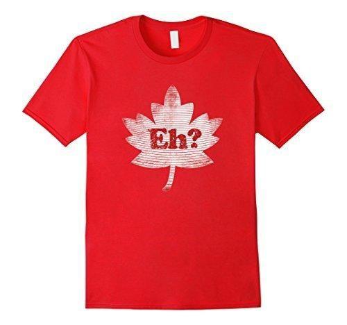 Men's Eh canada shirt canada day tshirt canadian red maple leaf XL Red
