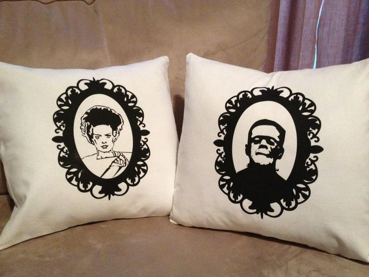 Monster movie pillow covers - Frankenstein & Bride....