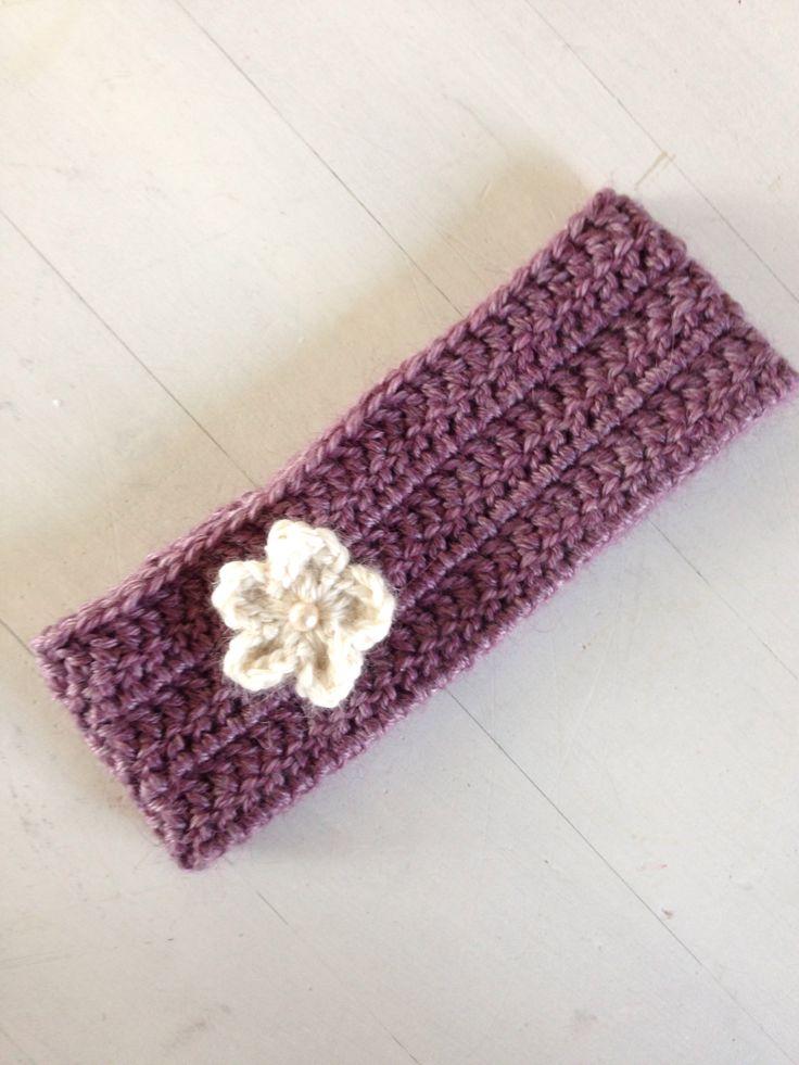 Heklet hårbånd / headband #hekle #crochet