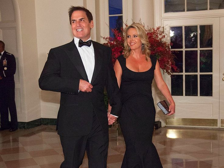 A look inside the marriage of billionaire investor Mark Cuban and his wife Tiffany who met at the gym are worth $3.3 billion and insist he won't run for president
