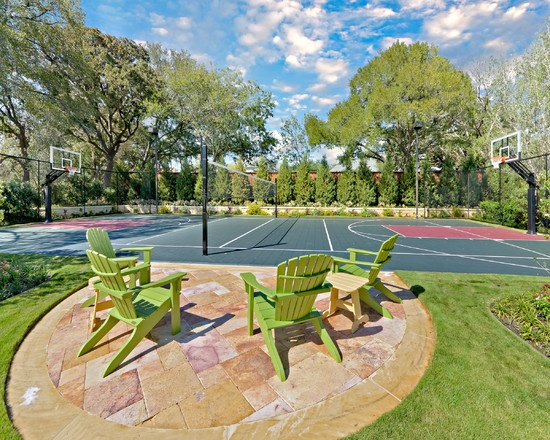 Backyard Sport Court Ideas backyard basketball court in la lakers colors Sport Court Design Pictures Remodel Decor And Ideas Page 9