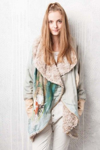 COAT - By Adéla Urbanová Fancy and colorful designed story. Handmade coloured, dyed and printed items.