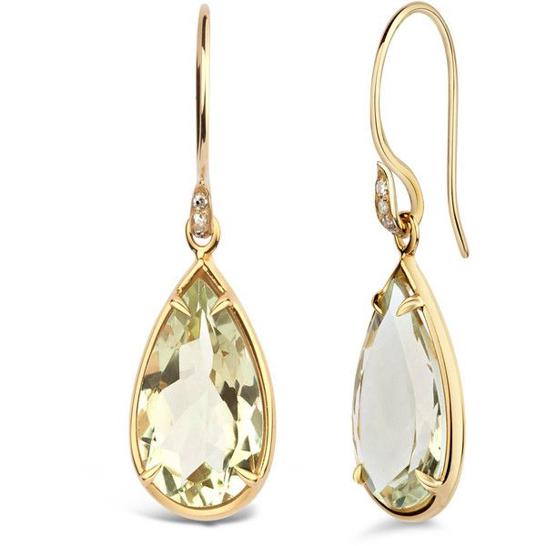 Dinny Hall Green Amethyst Imy Anniversary Earrings (86275 RSD) ❤ liked on Polyvore featuring jewelry, earrings, druzy earrings, dinny hall, green amethyst earrings, druzy jewelry and green amethyst jewelry